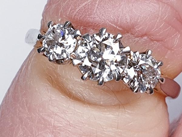 Victorian Old Cut Diamond Three Stone Diamond Ring  DBGEMS - image 6