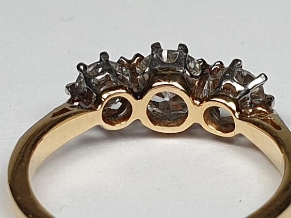Victorian Old Cut Diamond Three Stone Diamond Ring  DBGEMS - image 3