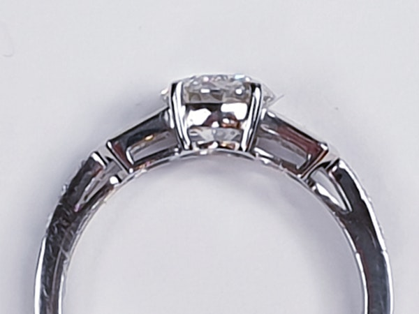 1.14ct diamond and baguette diamond engagement ring  DBGEMS 4379 - image 5