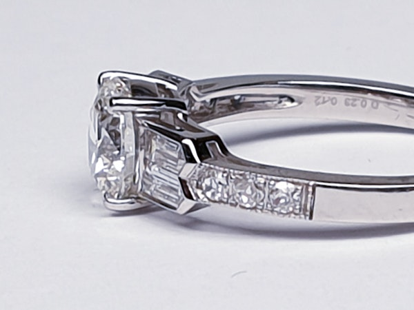 1.14ct diamond and baguette diamond engagement ring  DBGEMS 4379 - image 3