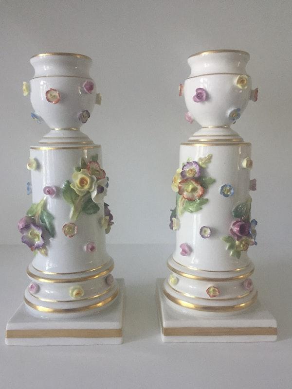 Pair of 19th century Meissen candlesticks - image 3