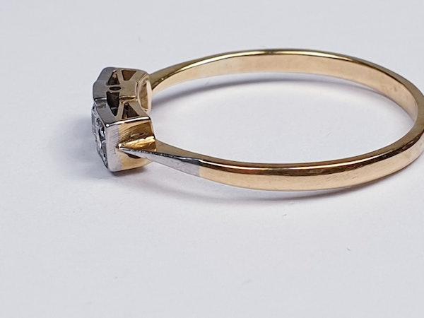 Edwardian Three Stone Diamond Ring  DBGEMS - image 2