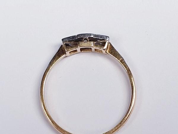 Edwardian Three Stone Diamond Ring  DBGEMS - image 3