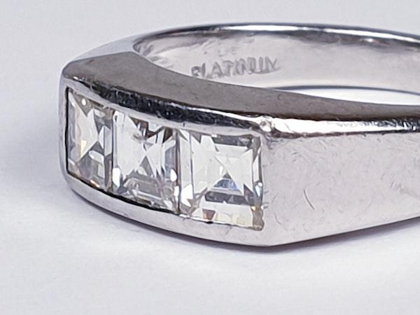 Three Stone Square Diamond Ring  DBGEMS - image 2