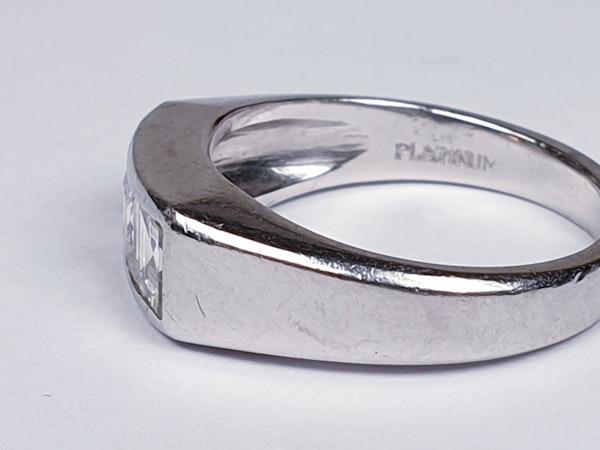 Three Stone Square Diamond Ring  DBGEMS - image 3