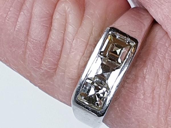 Three Stone Square Diamond Ring  DBGEMS - image 5