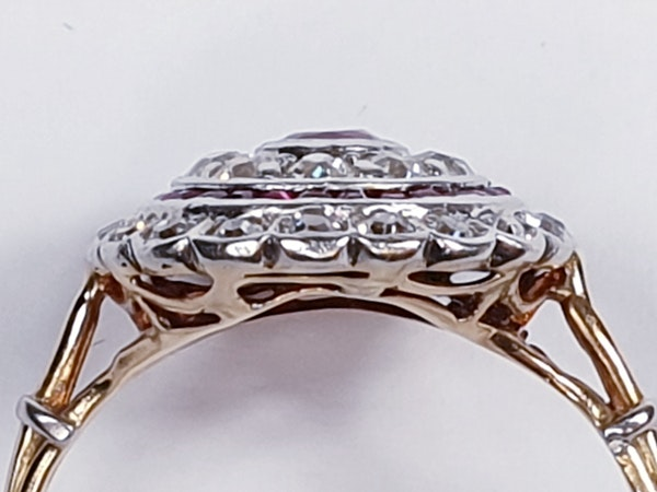 Edwardian ruby and diamond ring  DBGEMS - image 5