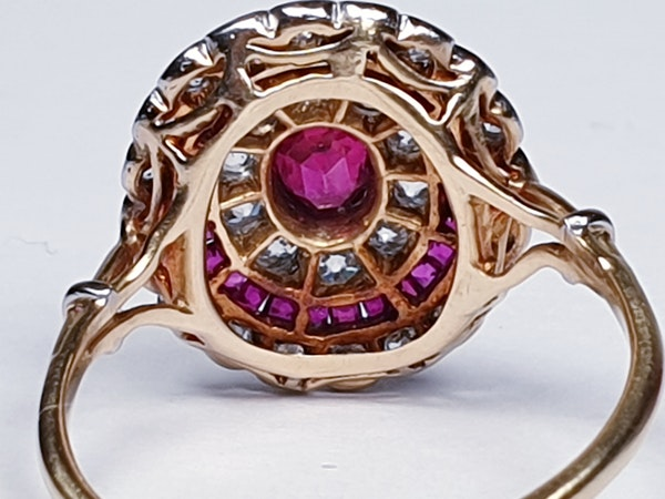 Edwardian ruby and diamond ring  DBGEMS - image 4