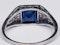 Art Deco Sapphire and Diamond Ring  DBGEMS - image 5
