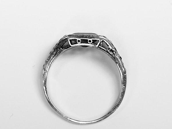 Art Deco Sapphire and Diamond Ring  DBGEMS - image 6