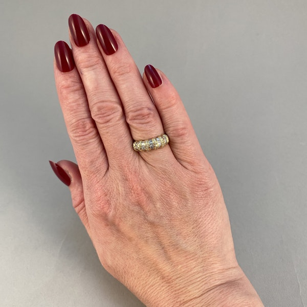 1970's, 18ct White & Yellow Gold Diamond stone set Ring, SHAPIRO & Co since1979 - image 3