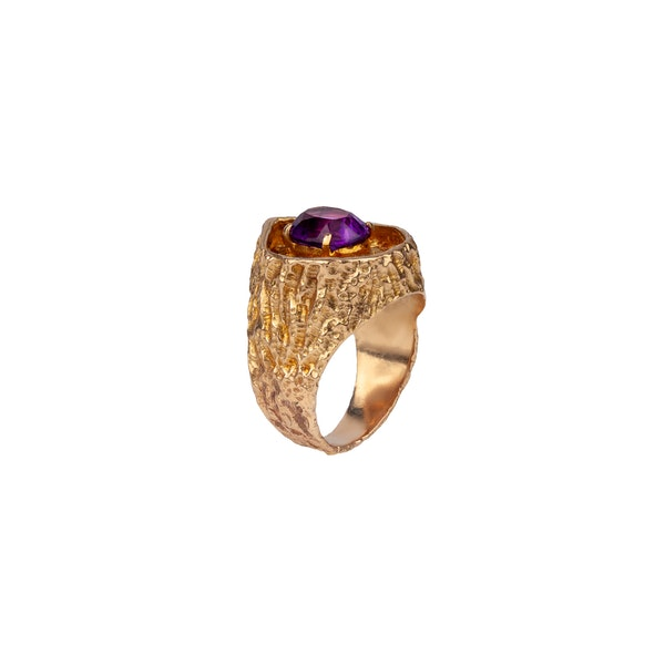 Deakin and Francis amethyst 1970s ring - image 2