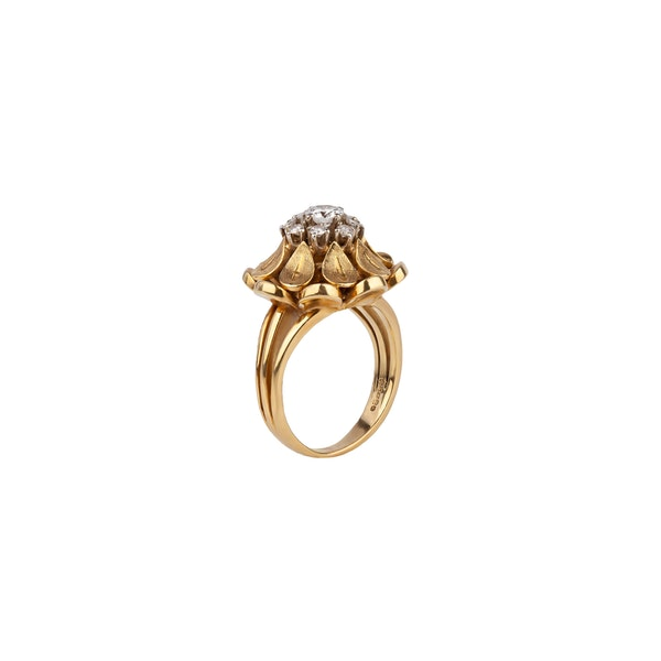 1970s gold diamond ring - image 2