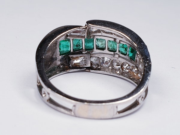 Art deco Emerald and Diamond Ring  DBGEMS - image 6