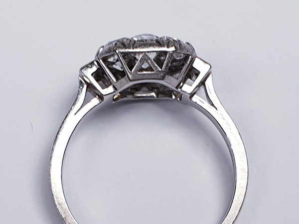 French Art Deco Diamond Cluster Engagement Ring  DBGEMS - image 2