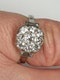 French Art Deco Diamond Cluster Engagement Ring  DBGEMS - image 3
