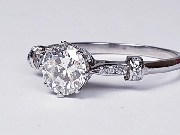 1.10ct art deco diamond engagement ring  DBGEMS - image 3