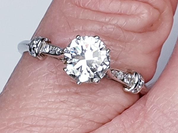 1.10ct art deco diamond engagement ring  DBGEMS - image 5