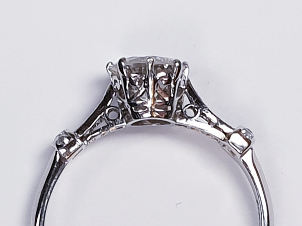 1.10ct art deco diamond engagement ring  DBGEMS - image 4