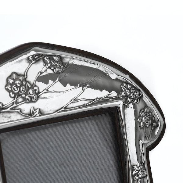 Beautiful Art Nouveau Silver Picture Frame - image 2