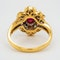 18K yellow gold 1.26ct Natural Ruby and 1.00ct Diamond Ring - image 4