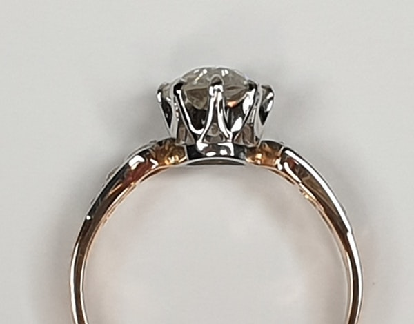 1.37ct cushion cut diamond French engagement ring  DBGEMS - image 6