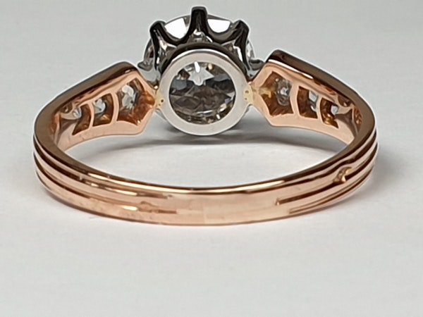 1.37ct cushion cut diamond French engagement ring  DBGEMS - image 5