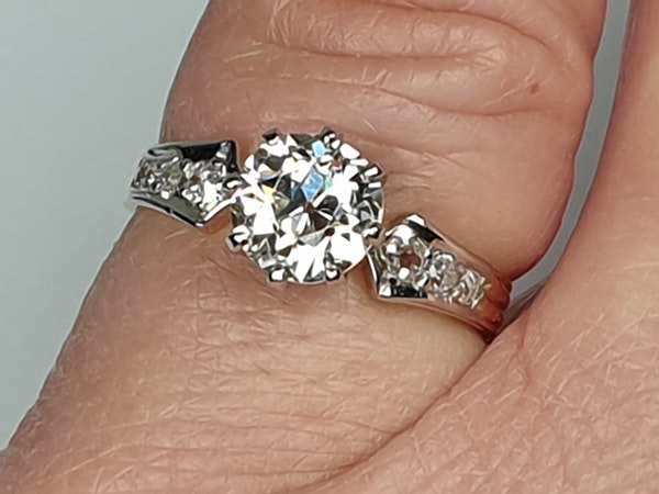 1.37ct cushion cut diamond French engagement ring  DBGEMS - image 2