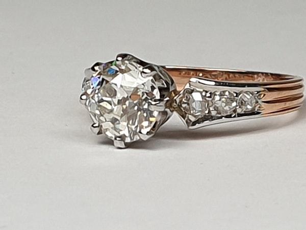 1.37ct cushion cut diamond French engagement ring  DBGEMS - image 3