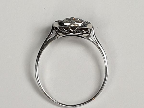 Art Deco Diamond Target Engagement Ring  DBGEMS - image 5