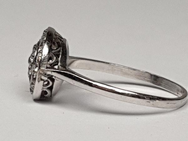 Art Deco Diamond Target Engagement Ring  DBGEMS - image 2