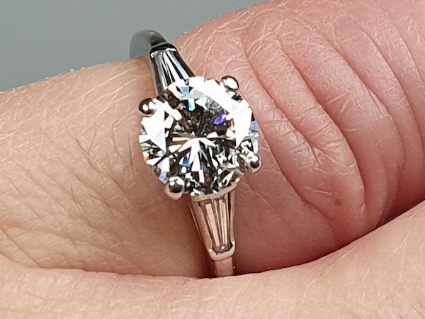 1.74ct Diamond Solitaire Ring  DBGEMS - image 3