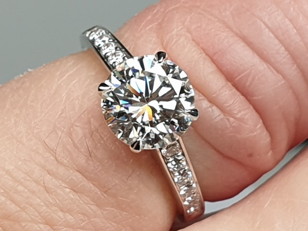 1.85ct solitaire engagement ring  DBGEMS - image 3