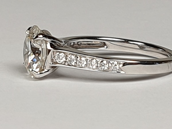 1.85ct solitaire engagement ring  DBGEMS - image 5