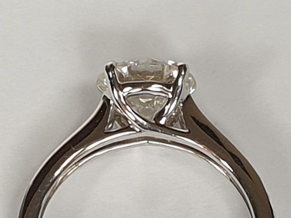 1.85ct solitaire engagement ring  DBGEMS - image 2