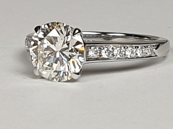 1.85ct solitaire engagement ring  DBGEMS - image 4