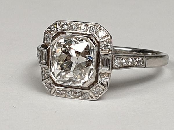 1.42ct cushion cut diamond engagement ring  DBGEMS - image 2