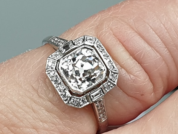 1.42ct cushion cut diamond engagement ring  DBGEMS - image 3