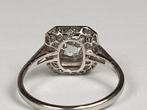1.42ct cushion cut diamond engagement ring  DBGEMS - image 5