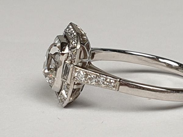 1.42ct cushion cut diamond engagement ring  DBGEMS - image 4