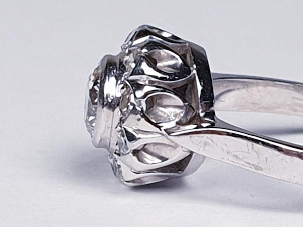 Art Deco Diamond Cluster Engagement Ring  DBGEMS - image 4