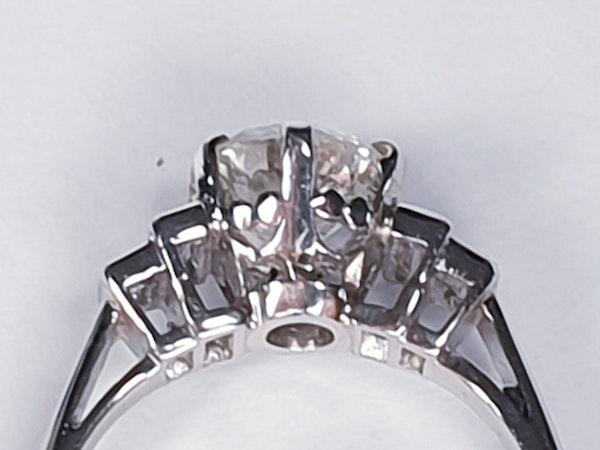 art deco 1.16ct diamond engagement ring  DBGEMS - image 3