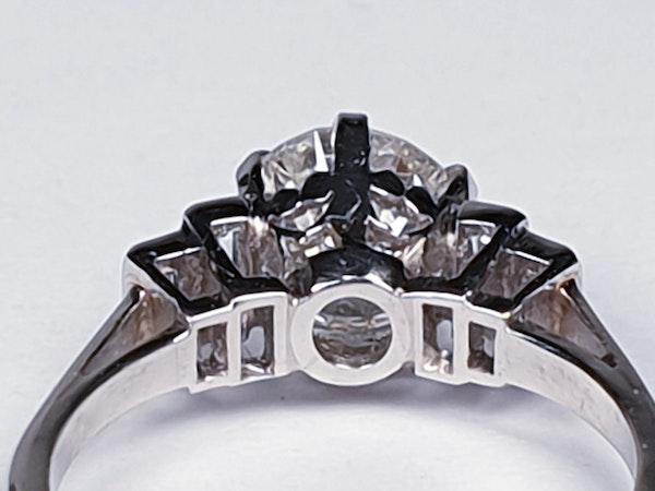 art deco 1.16ct diamond engagement ring  DBGEMS - image 5