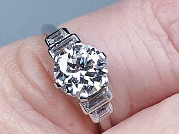 art deco 1.16ct diamond engagement ring  DBGEMS - image 4