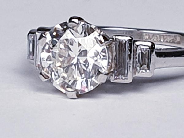 art deco 1.16ct diamond engagement ring  DBGEMS - image 2
