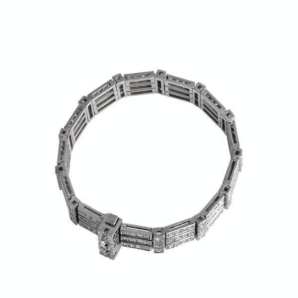 Deco Platinum Diamond Bracelet - image 2