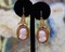 A very fine pair of Hardstone Cameo Drop Earrings mounted in 18ct Yellow Gold, English, Circa 1870 - 80 - image 1