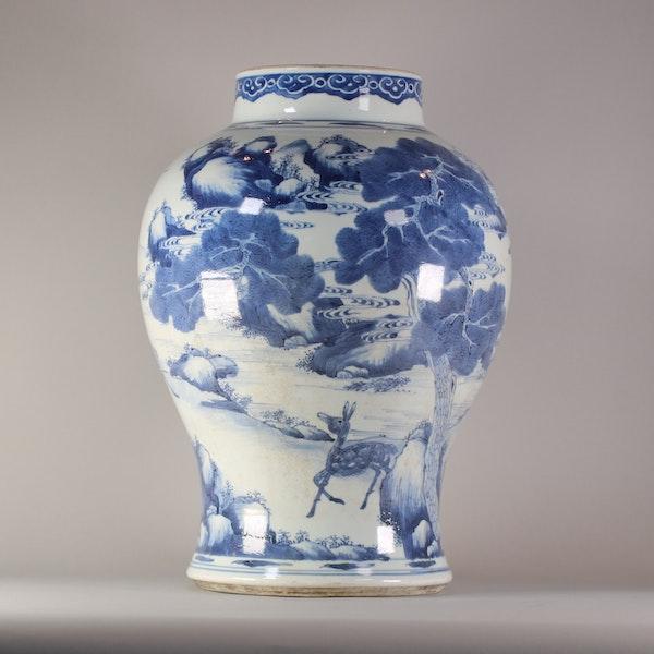 Chinese baluster landscape vase, Kangxi (1662-1722) - image 3
