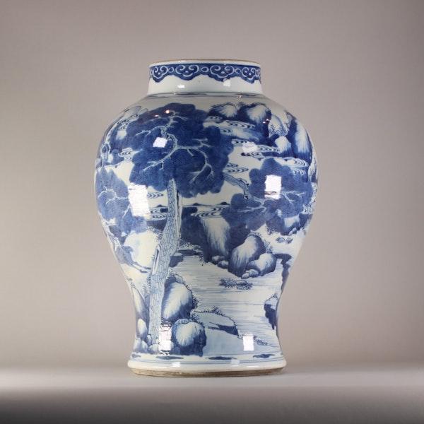 Chinese baluster landscape vase, Kangxi (1662-1722) - image 5