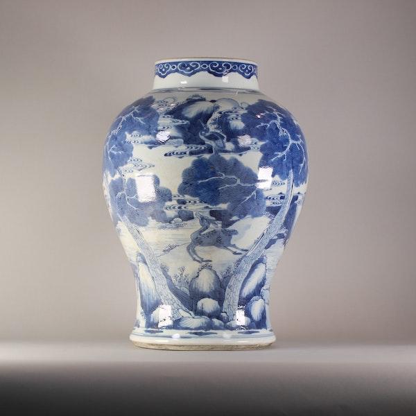 Chinese baluster landscape vase, Kangxi (1662-1722) - image 4